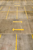 Empty car park Stock Image