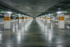 Empty car parking with green light notified, can use as backgrou Stock Images
