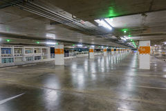 Empty car parking with green light notified, can use as backgrou Stock Photos