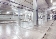 Empty car parking lot in modern building design with conveniance. Service Stock Image