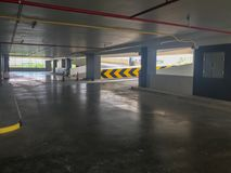 Empty car parking lot and ramp building Royalty Free Stock Photo