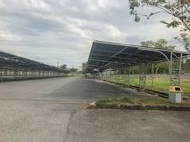 Empty car parking lot with roof. At thailand Stock Images