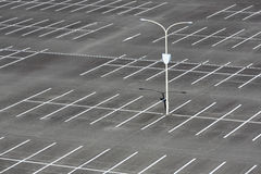 Empty car parking lot. With white mark Stock Photo
