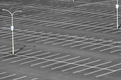 Empty car parking lot Royalty Free Stock Image
