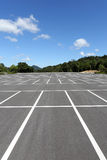 Empty car parking lot Stock Photography