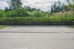 Empty car parking space. Royalty Free Stock Photography