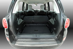 Empty car trunk with folded seats Stock Image