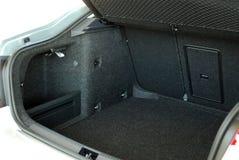 Empty car trunk. An empty trunk of a gray passenger car Stock Photography