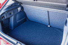 Empty car trunk. With a lot of space for luggage and goods Royalty Free Stock Photo