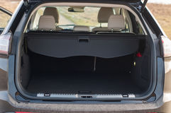 Empty car trunk. Empty, opened car trunk. Luggage space Royalty Free Stock Photography