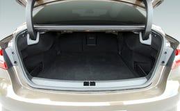 Empty car trunk. Empty trunk of the sedan, studio shot Royalty Free Stock Photo