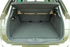 Empty car trunk Royalty Free Stock Image