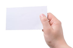 Empty card Stock Image