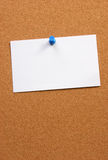 Empty card on a board horizontal with space Royalty Free Stock Photo