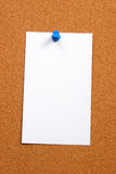 Empty card on a board vertical Royalty Free Stock Image