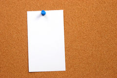 Empty card on a board vertical with space royalty free stock photography