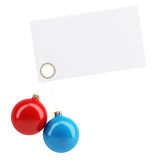 Empty card with christmas toys Royalty Free Stock Photography