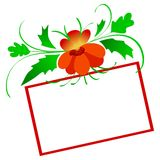 Empty card with flower Stock Image
