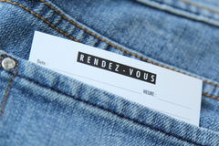 Rendez-vous appointment Stock Image