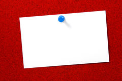 Empty card over red cork horizontal Stock Photo
