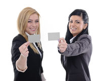 Empty card and smile Royalty Free Stock Photography