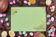 Empty card with sprinkle dots. Royalty Free Stock Image