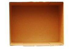 Empty cardboard box Royalty Free Stock Photography