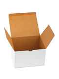 Empty cardboard box Stock Photo