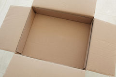 Empty cardboard box Royalty Free Stock Photography