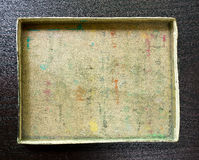 Empty Cardboard Box. An empty box that used to hold artists chalks stock images
