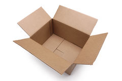 Empty cardboard box. On a white background Stock Photography