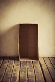 Empty cardboard box Royalty Free Stock Image
