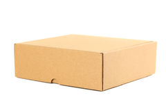 Empty cardboard box. Isolated on a white Royalty Free Stock Image