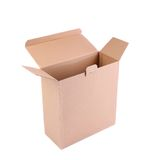 Empty cardboard box isolated Stock Images