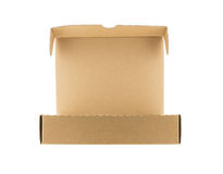 Empty cardboard box isolated on white background Royalty Free Stock Photography