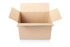 Cardboard box, empty Royalty Free Stock Photo