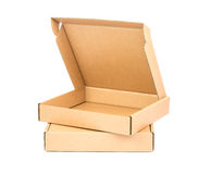 Empty Cardboard Box. Photo of an empty cardboard box on top of another one Stock Photo