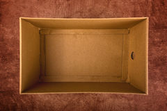 Empty Cardboard Box Top View Stock Images