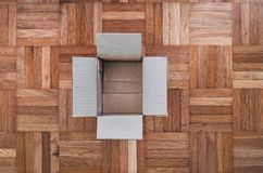 Empty cardboard box royalty free stock photos