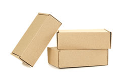 Empty cardboard boxes Stock Photos