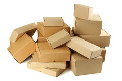 Empty cardboard boxes Stock Photography