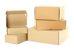 Empty cardboard boxes Stock Photos