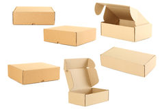 Empty cardboard boxes Royalty Free Stock Images