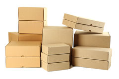 Empty cardboard boxes Royalty Free Stock Photo