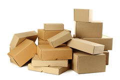 Empty cardboard boxes Royalty Free Stock Photography
