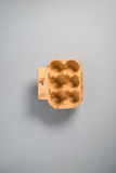 An Empty Cardboard Egg Carton Stock Images