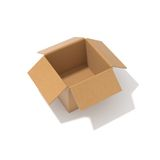 Empty cardbox Stock Images