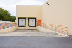 Empty cargo loading bay dock Stock Images