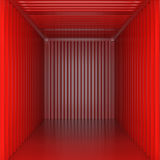 Empty cargo view from inside Royalty Free Stock Image