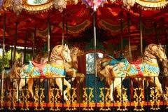 Empty Carousel Ride for Children Stock Photo